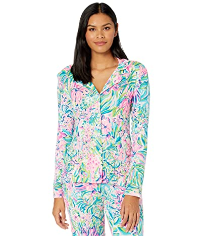 Lilly Pulitzer Pj Knit Long Sleeve Button-Up Top (Multi Lillys Favorite Things) Women