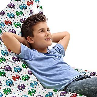 ABAKUHAUS Voitures Jouet Sac de Rangement Chaise Lounge, Enfants Jouets pour Play Time, Stockage pour Animal en Peluche à ...