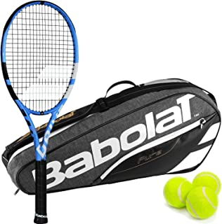 Babolat Pure Drive Tour Plus (+) Extended Tennis Racquet Bundled with a Babolat Pure Tennis Bag and a Can of Tennis Balls (Perfect
