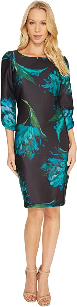 Christin Michaels - Alyssandra 3/4 Sleeve Floral Dress
