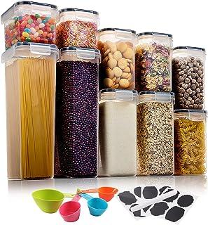 Aitsite Boîte de Rangement Cuisine Lot de 10Pcs, Boîte de Conservation Alimentaire en Plastique Sans BPA, Boîte Hermétique...