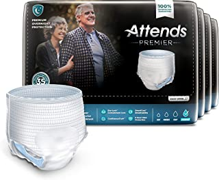 Attends Premier Protective Underwear With Dry Lock Containment Core For Adult Incontinence Care Unisex, X-Large, 56 Count