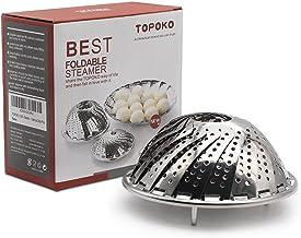 TOPOKO Vegetable Steamer Basket, Fits Instant Pot Pressure Cooker 5/6 QT and 8 QT, 18/8..