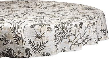 """DII CAMZ11204  Botanical Print Kitchen Textiles, 70"""" Round"""