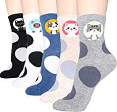 DearMy Womens Cute Design Casual Cotton Crew Socks | One Size Fits All | Gifts for Women