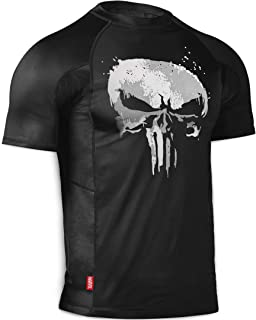 Hayabusa Rash Guard | Marvel Hero Elite Series | The Punisher | Rash Guard | Men Women | Short Sleeve