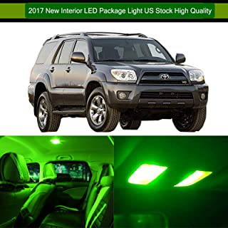 SCITOO LED Interior Lights 12pcs Green Package Kit Accessories Replacement for 2003-2017 Toyota 4Runner