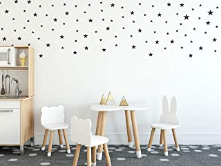 Wall Decals Black Stars For Kids Room, 3-4-5centimeter Mix 112 Pcs, Easy To Peel Easy To Stick, Safe On Walls And Paint, Vinyl Decor By Bugybagy.