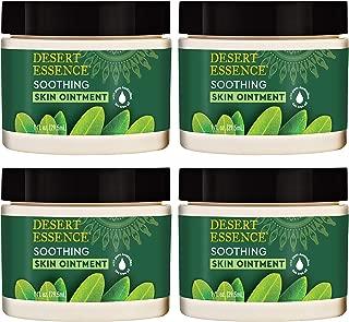 Desert Essence Tea Tree Oil Skin Ointment - 1 Fl Ounce - Pack of 4 - Jojoba & Lavender Essential Oils - Vitamin E - Sweet Almond Extract - Moisturizer For Dry Skin, Skin Irritations, Cuticles