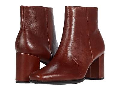 ECCO Shape 60 Squared Ankle Bootie (Cognac) Women