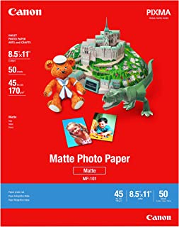 Canon 7981A004 Photo Paper Plus, Matte, 8-1/2 x 11 (Pack of 50 Sheets)