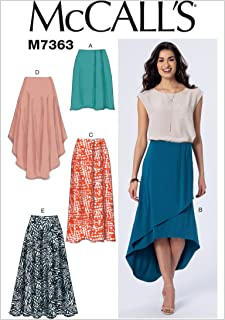 McCall's Patterns M7363 Misses' Elastic-Waist Pull-On Skirts, Size A5 (6-8-10-12-14)