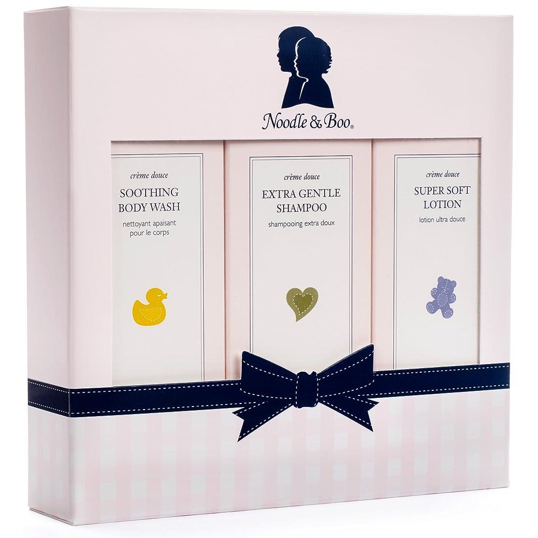 傾いたガロンカウンタヌードル&ブー Starter Gift Set: Extra Gentle Shampoo 237ml/8oz + Soothing Body Wash 237ml/8oz + Super Soft Lotion 237ml/8oz 3pc並行輸入品