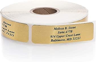 Shiny Gold Foil Rolled Address Labels Without Elegant Dispenser - Roll of 250