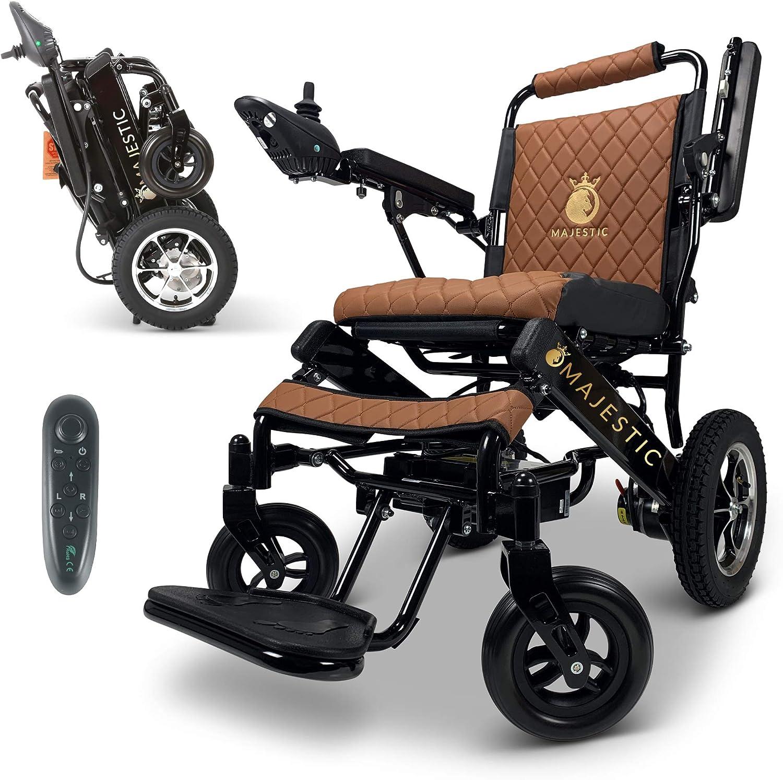 Buy 2021 New Lightweight Electric Wheelchair - Remote Control Electric  Wheelchairs Lightweight Foldable Motorize Power Electrics Wheel Chair  Mobility Aid (17.5 Seat Width) Online in Turkey. B08P5FBJ3K