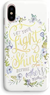 iPhone Xs Max Case,Girls Women Quotes Cute Flowers Floral Bible Verses Women Quotes Christian Inspirational Motivational Matthew 5:16 Let Your Shine Lord Soft Case Compatible for iPhone Xs Max
