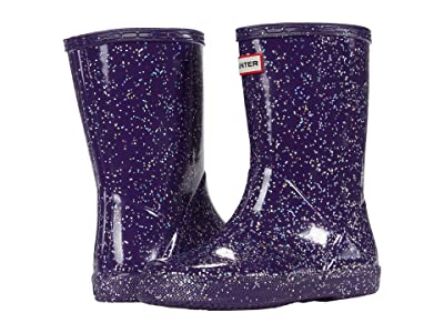 Hunter Kids Original First Classic Giant Glitter Wellington Boots (Toddler/Little Kid) (Cavendish Blue) Girls Shoes