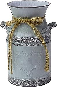 Soyizon Vase en métal Style Rustique en Forme de cœur pour décoration de la Maison 19,1 c