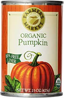 Farmer's Market Foods, Organic Canned Pumpkin, 15 Ounce