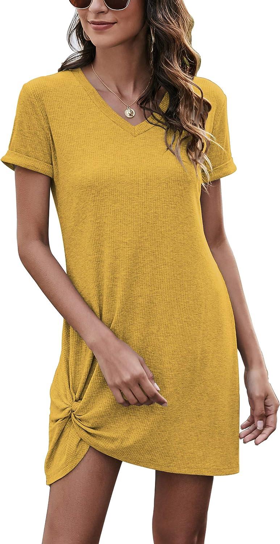BeadChica Women's Summer Dresses Casual Tshirt Dress Sexy Short Sleeve Cute Mini Sundress