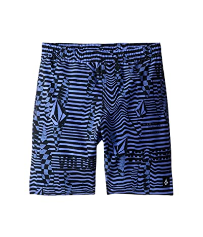 Volcom Kids Logo Shifter Volley Boardshorts (Little Kids/Big Kids) (Deep Purple) Boy