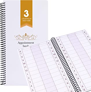 Appointment Book Undated Schedule Reservation – 3 Columns 200 Page Appt Book Organizer with Pen Holder - Hourly Weekly Planner Daily Scheduler for Salon Hairdresser Restaurant Spa Stylist (3 Columns)