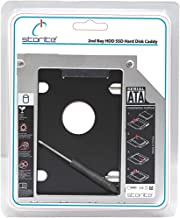 Storite Optical Bay 2nd Hard Drive Caddy, Universal for 9.5mm CD/DVD Drive Slot (for SSD and HDD)