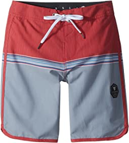 "VISSLA Kids Dredges 4-Way Stretch Boardshorts 17"" (Big Kids)"