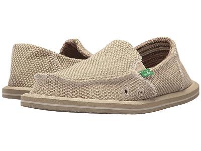 Sanuk Kids Vagabond (Little Kid/Big Kid) (Khaki) Boys Shoes