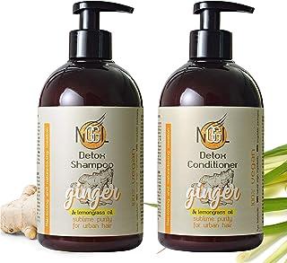 NGGL, trattamento spa vegan detossificante e purificante con estratto di zenzero e olio di citronella, shampoo 500 ml + ba...