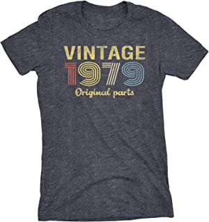 0b38ce68a3 40th Birthday Gift Womens T-Shirt - Retro Birthday - Vintage 1979 Original  Parts