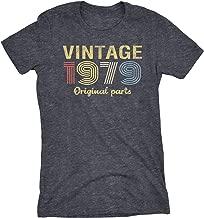 40th Birthday Gift Womens T-Shirt - Retro Birthday - Vintage 1979 Original Parts