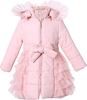 Richie House Little Big Girls Zip Jacket with Gold Snaps and Pipings Rh1673
