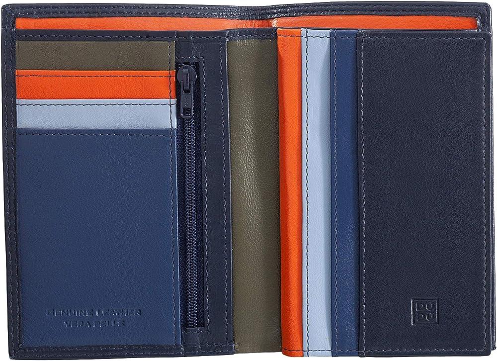 Dudu portafoglio porta carte di credito da uomo multicolore in pelle 8031847172140