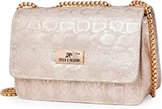 Speed X Fashion Women's Sling Bag Genuine PU Compartment-1 Secret Pocket-2 L=8 inch,B=3.1 inch,H=5.5 inch SB003D