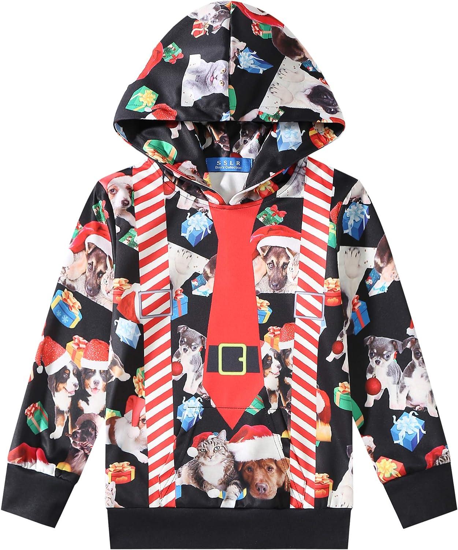 Regular dealer SSLR Youth Big Boy 's Funny Xmas 3D Printed Holiday Max 65% OFF Hoodie Chris
