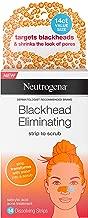 Neutrogena Blackhead Eliminating Pore Strip to Facial Scrub with Salicylic Acid Acne Treatment, Oil-Free & Non-Comedogenic, 14 ct.