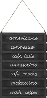 7-Slot Wall-Mounted Wood Chalkboard Menu Sign with Removable Boards & Hanging Rope, 24-Inch