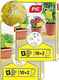PIC – 40 kleine Gelbsticker, Gegen Trauermücken, Blattläuse, Minierfliegen, Thripsen und weiße Fliegen – perfekt gegen Ungeziefer, Zuhause und auf dem Balkon – Gelbfalle – Gelbtafeln