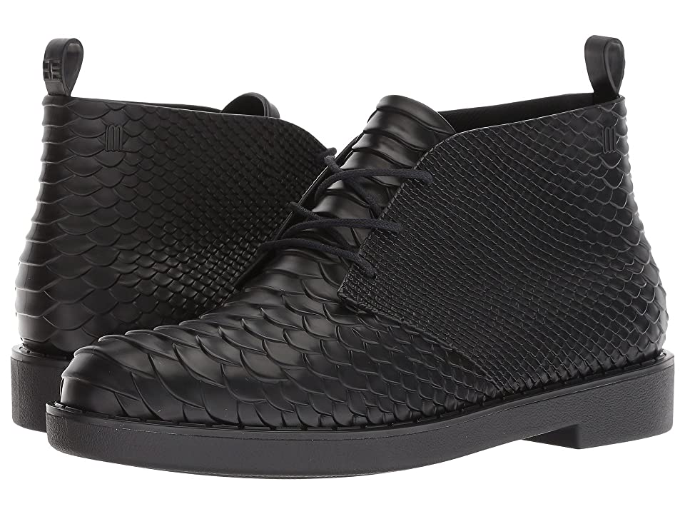 + Melissa Luxury Shoes x Baja East Desert Boot Python  Black