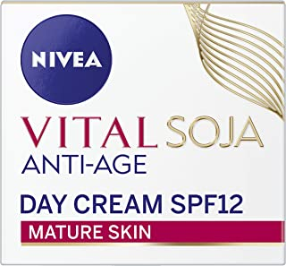 NIVEA Vital Soja Anti-Age Day Cream Moisturiser, formulated with Soy Extract for Mature Skin, 50ml