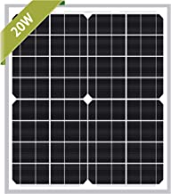 Newpowa 20W Monocrystalline 20 Watts 12v Poly Solar Panel Module Rv Marine Boat Off Grid