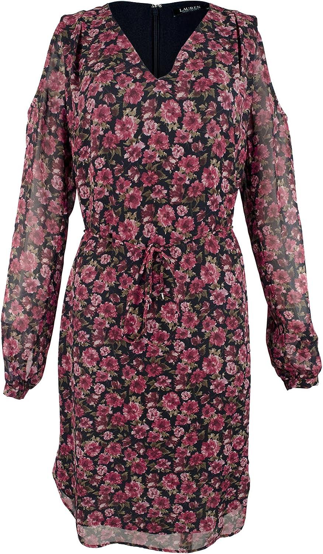 Lauren Ralph Lauren Women's Ayunli Cold Shoulder Knee-Length Casual Dress