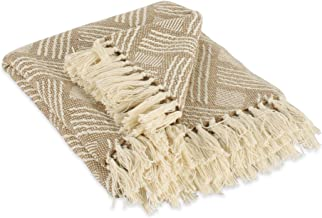 DII Transitional Basketweave Woven Throw, 50x60, Stone
