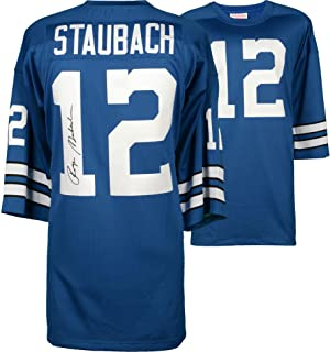 Roger Staubach Dallas Cowboys Autographed Blue Authentic Mitchell & Ness Jersey - Fanatics Authentic Certified