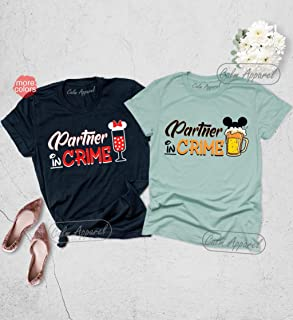 Partner in Crime Shirt, Beer and Wine T-Shirts, Couple Matching Shirts, Food and Wine Festival Tee Shirt