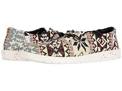 Hey Dude Wendy Print (Black Aztec) Women