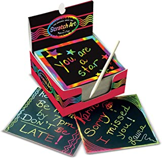 Melissa & Doug Scratch Art Box of Rainbow Mini Notes -...