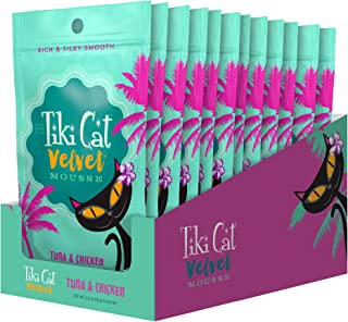 Tiki Cat Velvet Mousse Grain-Free Wet Food with a Silky-Smooth Texture for Adult Cats & Kittens