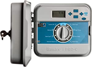 Hunter Pro-C PC-400 4 Zone Base Controller; Outdoor Model w/Internal Transformer and Lockable Cabinet